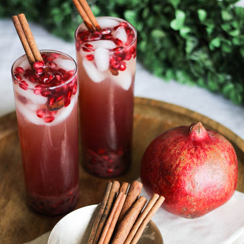 Lemon, Ginger + Pomegranate Sparkler