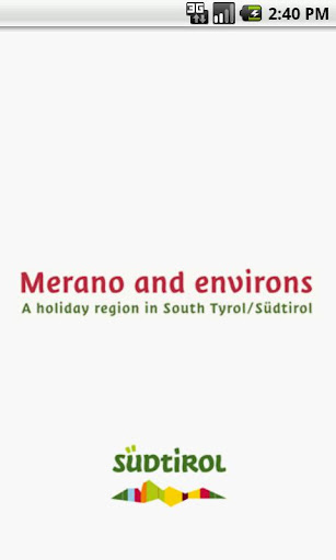 Holiday in Merano and environs