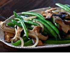 Green Bean and Shiitake Mushroom Stir Fry