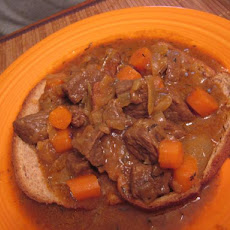 Aunt Juju's Beef Tips With Caramelized Onions