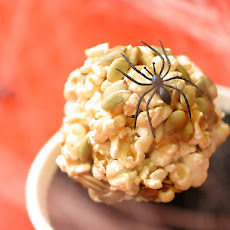 Sweet and Spicy Pepitas Popcorn Balls