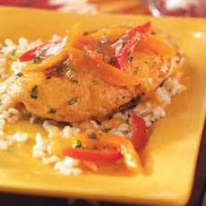 Citrus Chicken with Peppers Recipe