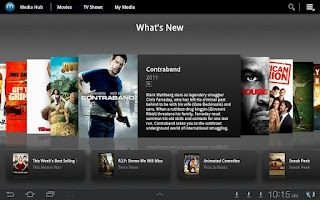 Screenshot of Media Hub - Samsung TAB (WiFi)