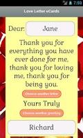 Screenshot of Love Letter eCards
