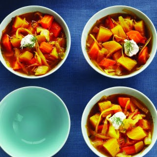 Golden Beet Borscht Stew