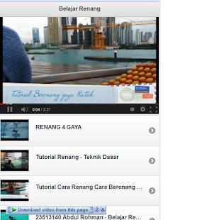 Tutorial Renang- screenshot thumbnail