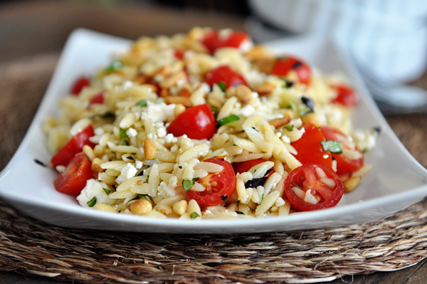 Fast and Fresh Orzo Salad with Tomatoes, Basil and Feta Recipe ...