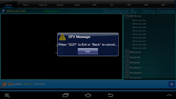 Screenshot of DTVIndia_Lite (OS <= 2.3)