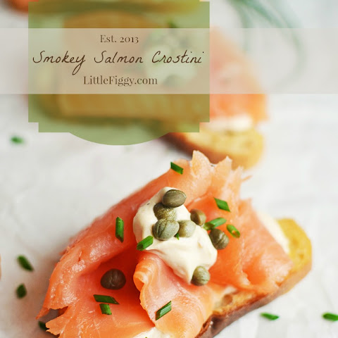 Smokey Salmon Crostini