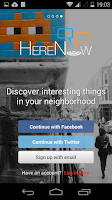Screenshot of HereNow Local Communications