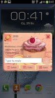 Screenshot of Cupcake Free GO SMS PRO THEME