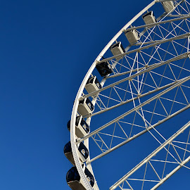 Clear Sky Ferris Wheel by Gaby DeSpain - City,  Street & Park  Amusement Parks ( washington, seattle, bluesky, waterfront, ferriswheel )