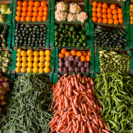 Moroccan fruit and vegetable display. by Gale Perry - Food & Drink Fruits & Vegetables