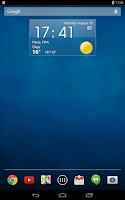 Screenshot of Digital clock & world weather