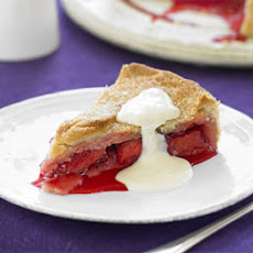 Classic Plum Pie With Custard