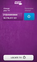 Screenshot of Absolute Radio TV App Remote