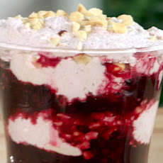 Blackberry-White Chocolate Fool with Toasted Hazelnuts