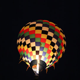Night Light by Charles Kuster - Transportation Other ( hot air balloon, night, balloon, fire )