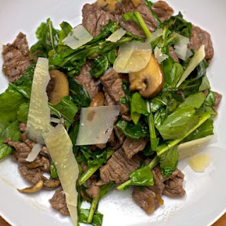 Steak Salad with Balsamic and Wilted Arugula