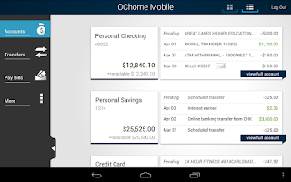 Screenshot of OChome Mobile