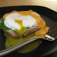 Portabella and Spinach Eggs Benedict