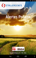 Screenshot of Alertes Pollens