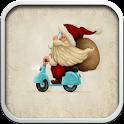 Biker Santa icon
