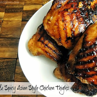 Sweet and Spicy Asian Style Chicken Thighs