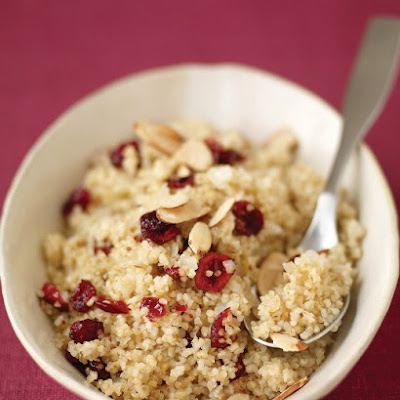 Bulgur Pilaf with Almonds and Dried Cranberries