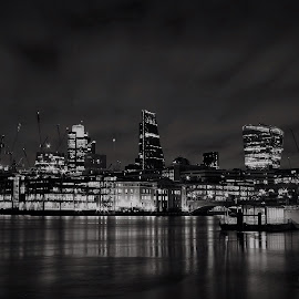 by Brian Knott - City,  Street & Park  Skylines ( reflection, skyline )
