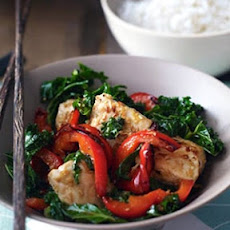 Fragrant Chicken with Kale & Lemon Grass Stir Fry