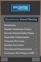 Screenshot of Hypothesis Based Testing