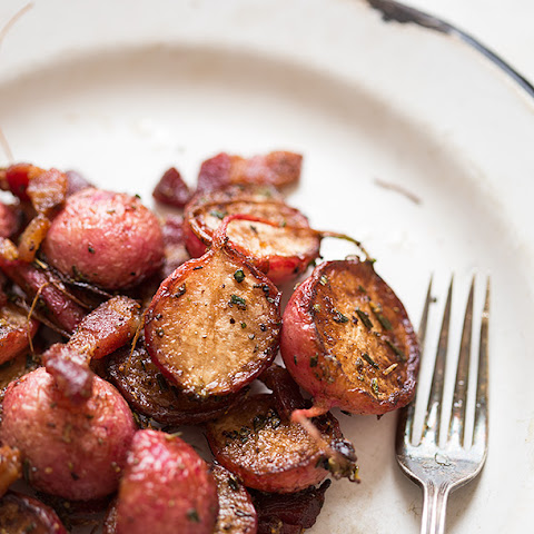 Sautéed Radishes With Bacon And Rosemary
