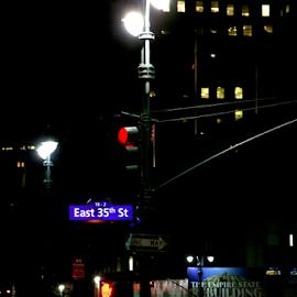 night shot by Alec Halstead - City,  Street & Park  Street Scenes