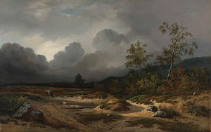 RIJKS: Willem Roelofs (I): Landscape with a Thunderstorm Brewing 1850