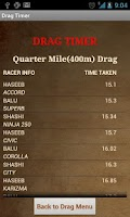 Screenshot of Drag Timer