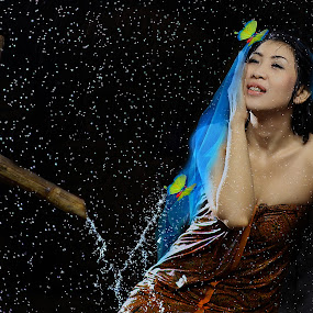 Rain  by Achepot Chepot - People Portraits of Women