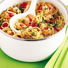Picchi-pacchi Spaghetti With Prawns And Chilli