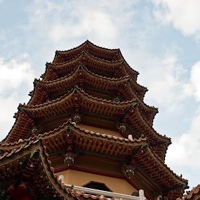 Pagoda by Daniel Legendarymagic - Buildings & Architecture Statues & Monuments ( hindu, pagoda, taiwan, buddhist, buildings, sacred, religious )