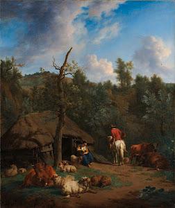 RIJKS: Adriaen van de Velde: The Hut 1671
