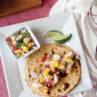 Chipotle Lime Fish Tacos with Mango Coconut Salsa