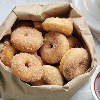 Baked Cinnamon Sugar Mini Donuts