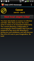 Screenshot of Daily LOVE Horoscope