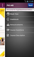 Screenshot of Ashford University Mobile