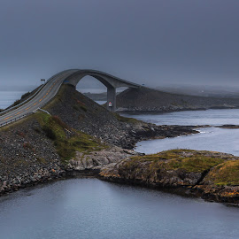 Atlantic road  by Davy de Neve - Landscapes Travel ( road, atlantic road, norway )