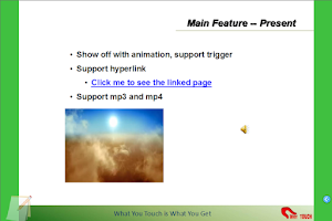 Screenshot of Touchshow Powerpoint Player