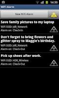 Screenshot of WiFi Alarm