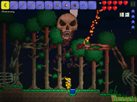 Screenshot of Terraria.