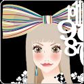 おしゃれでかわいい女の子ライブ壁紙2(時計) icon