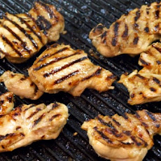 Grilled Chicken with Almond and Garlic Sauce